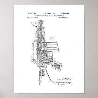 Patente semiautomática del rifle del potro AR-15 Póster