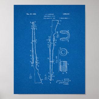Patente semiautomática del rifle - modelo póster
