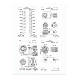Patente US381968 p 1-4 del motor del Elecro-Imán Tarjeta Postal