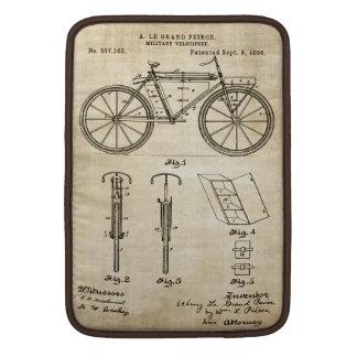 Patentes de la bicicleta - manga de Macbook Fundas Macbook Air