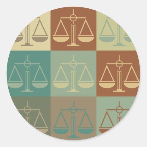 Patents Pop Art Round Stickers