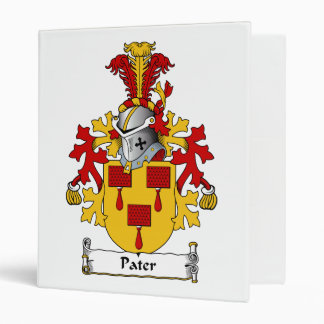 Pater Family Crest 3 Ring Binders