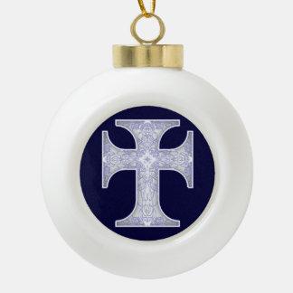 Pater Noster Ceramic Ball Christmas Ornament