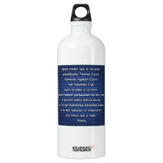 Pater Noster, Our Father Aluminum Water Bottle