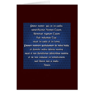 Pater Noster, Our Father Card