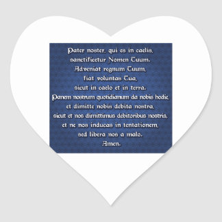Pater Noster, Our Father Heart Sticker