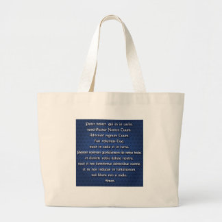 Pater Noster, Our Father Large Tote Bag
