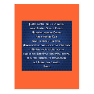 Pater Noster, Our Father Postcard