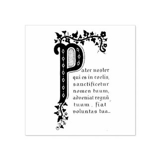 Pater Noster  Our Father prayer in Latin Rubber Stamp