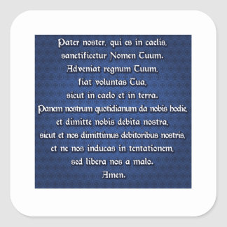 Pater Noster, Our Father Square Sticker