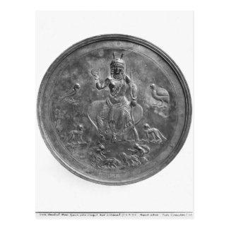 Patera grande que representa a una diosa tarjeta postal