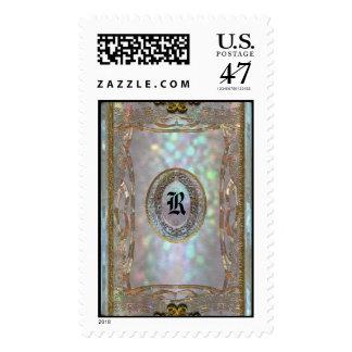 Paternost Glitz Monogram Postage Stamp