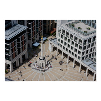Paternoster Square in London England Poster