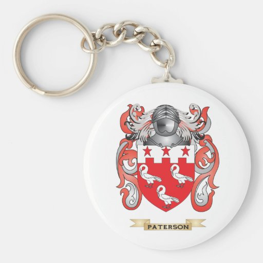 Paterson Coat of Arms (Family Crest) Basic Round Button Keychain
