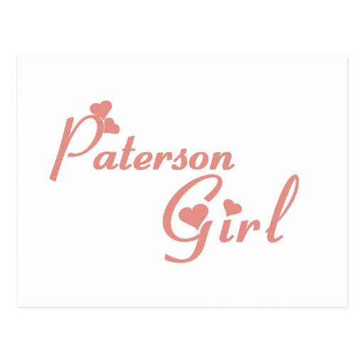 Paterson Girl tee shirts Post Cards