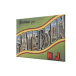 Paterson, New Jersey - Large Letter Scenes Canvas Print
