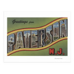 Paterson, New Jersey - Large Letter Scenes Postcard