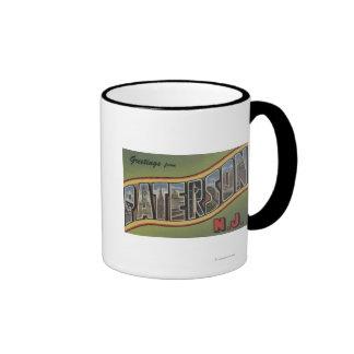 Paterson, New Jersey - Large Letter Scenes Ringer Mug