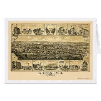 Paterson NJ Panoramic Map - 1880 Greeting Card