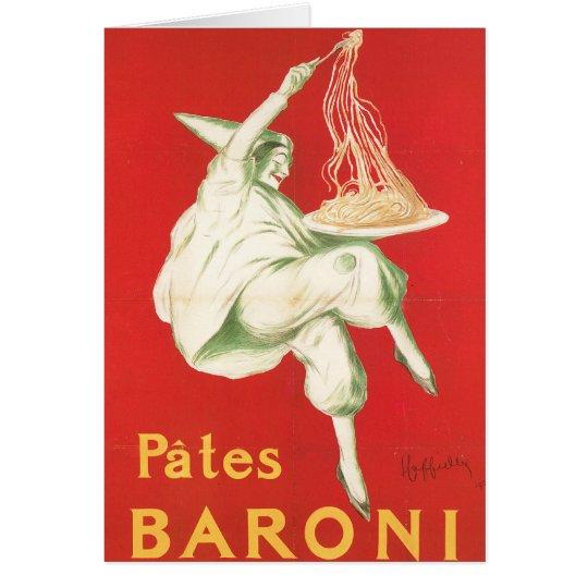 Pates Baroni Vintage Food Ad Art Card