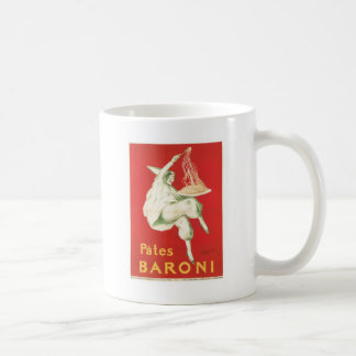 Pates Baroni Vintage Food Ad Art Classic White Coffee Mug