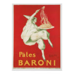 Pates Baroni Vintage Food Ad Art Print