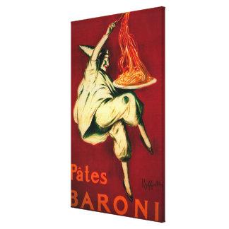 Pates Baroni Vintage PosterEurope Canvas Print