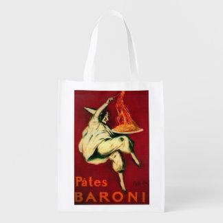 Pates Baroni Vintage PosterEurope Grocery Bags