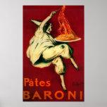 Pates Baroni Vintage PosterEurope Print