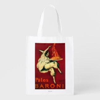 Pates Baroni Vintage PosterEurope Reusable Grocery Bags