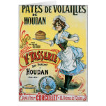 Pates De Volailles Houdan Vintage Food Ad Art Greeting Card