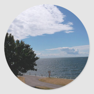 Path Along Lake Ontario Classic Round Sticker