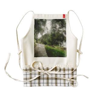 Path along the river zazzle HEART apron