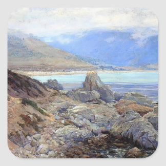 Path along the Shore by Guy Rose Square Sticker