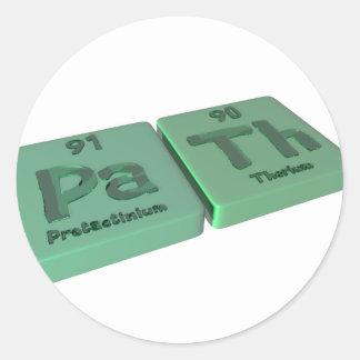 Path as Pa Protactinium and Th Thorium Classic Round Sticker