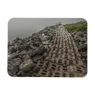 Path by the Bay Rectangular Magnet