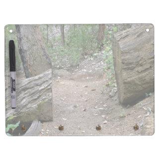 Path cut through log Dry-Erase whiteboards
