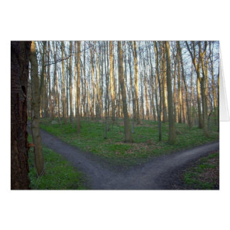 Path Diverges - Choices Greeting Card