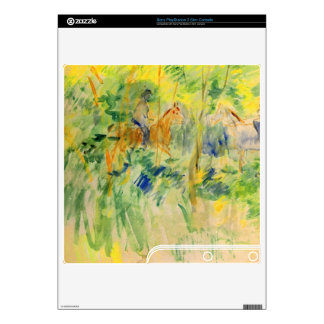 Path in Bois de Boulogne by Berthe Morisot PS3 Slim Decal