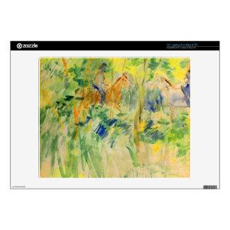 """Path in Bois de Boulogne by Berthe Morisot 14"""" Laptop Decal"""