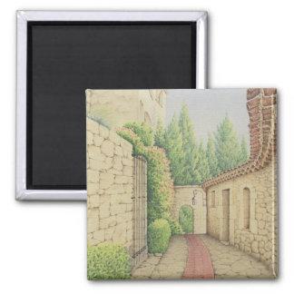 Path in Eze, Cote D'Azur France in Pastel Magnet
