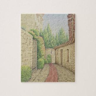 Path in Eze, Cote D'Azur France in Pastel Puzzle