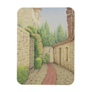 Path in Eze, Cote D'Azur France Photo Magnet