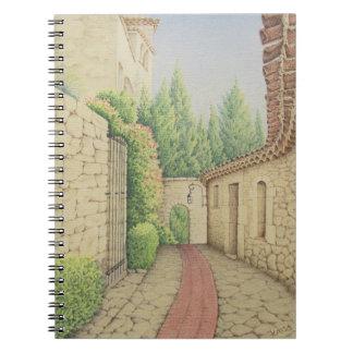 Path in Eze, Cote D'Azur Pastel Notebook 80 pages