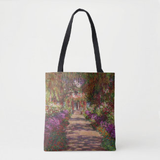 Path in Monet's Garden, Giverny by Claude Monet Tote Bag