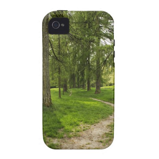 PATH IN THE GREEN FOREST COVER iPhone 4 CASES