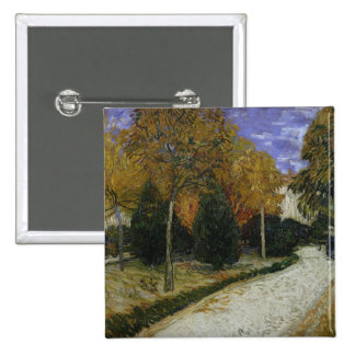 Path in the Park at Arles, 1888 2 Inch Square Button