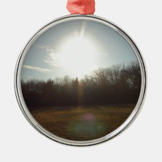 Path In The Woods Christmas Ornament