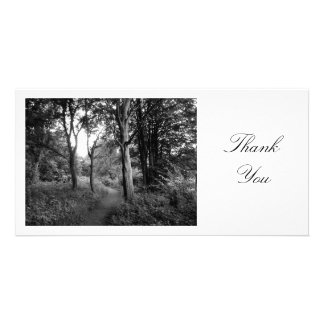 Path in the Woods - Thank You Custom Photo Card