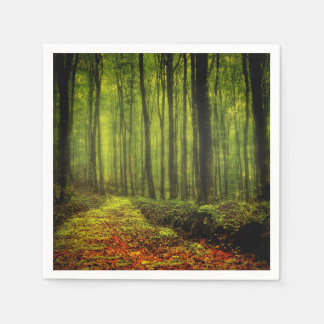 Path In Woods Paper Napkin